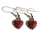 PUFFY HEART Light Siam Pave': Earrings