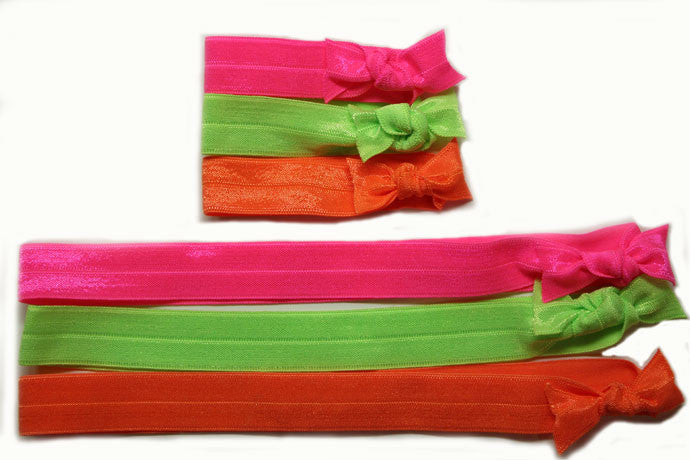 Neon: Hair Tie w/ Headband: 6-Pack
