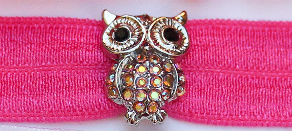 OWL: Light Pink Iridescent a/b Swarovski® Stone Charm Headband Set