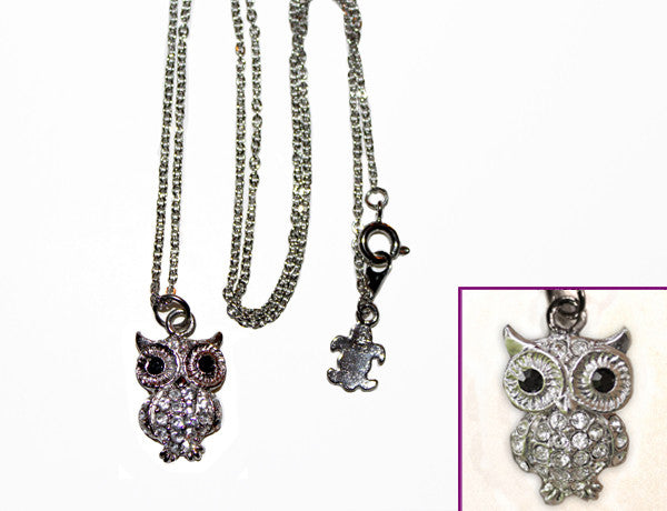 OWL Clear Stone: Necklace