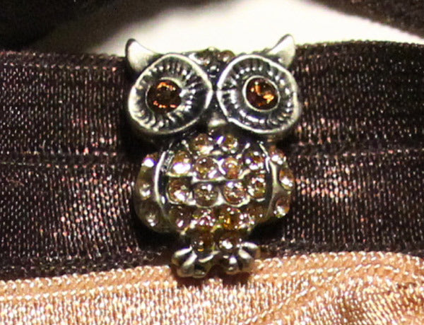 OWL Antique Silver-Topaz: Hair Tie (Pony)/Bracelet Sets