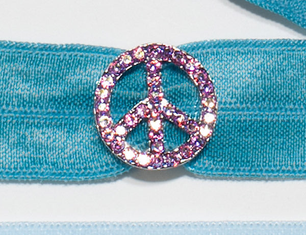 PEACE SIGN Lt. Rose: Hair Tie w/ Headband 6-Paks