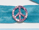 PEACE SIGN Light Rose: Hair Tie/Bracelet Sets