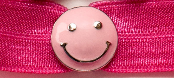 SMILEY FACE Pink: Headband Sets