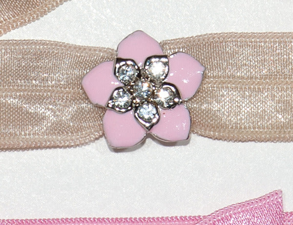 FLOWER Pink Hawaiian: Hair Tie/Bracelet Sets