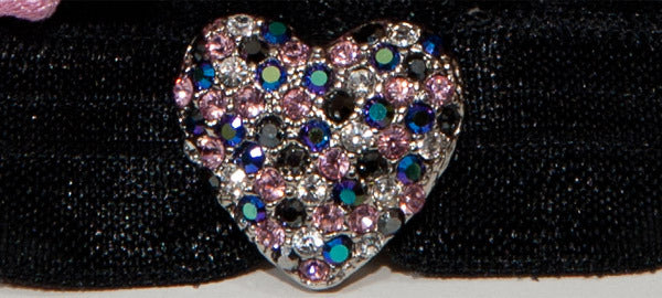 PUFFY HEART Multi-Color or Amethyst Pave': Headband Sets