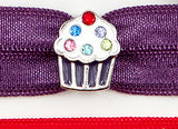 CUPCAKE Purple: Hair Tie/Bracelet Sets