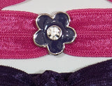 FLOWER Purple 5-Petal: Hair Tie/Bracelet Sets