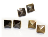 STUDS MINI - 3 Metal Finishes: Post Earrings