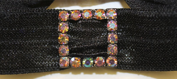 SQUARE Black-Lt Rose AB Stone: Headband Sets