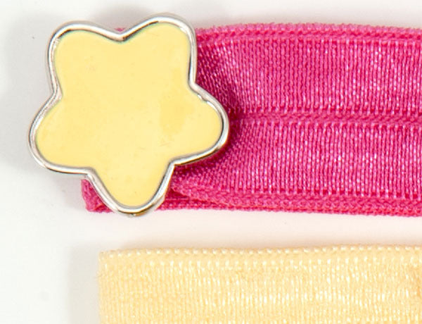 STAR Gold or Pink: Hair Tie w/ Headband 6-Pack