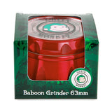 Green Monkey Baboon Crown Grinder - Red - 63MM