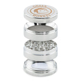 Green Monkey Capuchin Grinder - Silver - 63MM