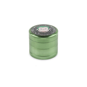 Green Monkey Grinder W/ Cone Attachment - Green - 55MM