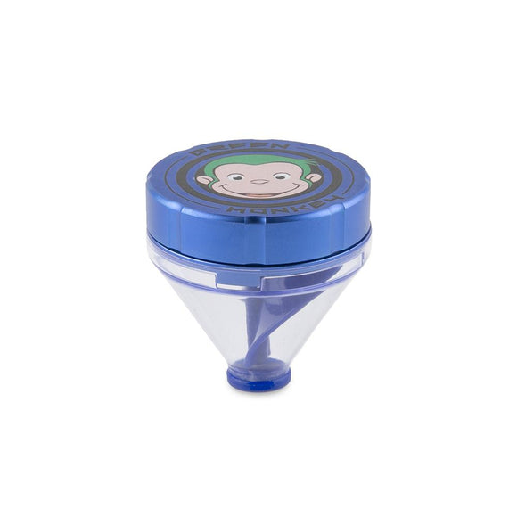 Green Monkey Grinder W/ Cone - Blue - 50MM