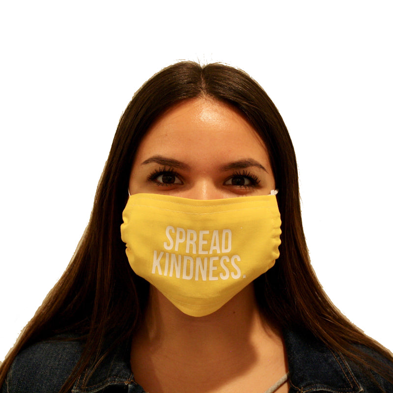 FACE MASK: SPREAD KINDNESS, assorted colors