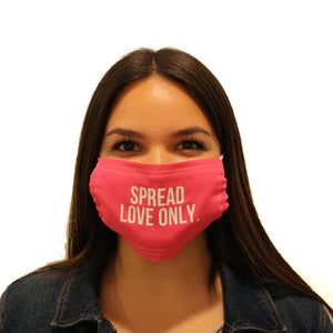FACE MASK: SPREAD LOVE ONLY, assorted colors