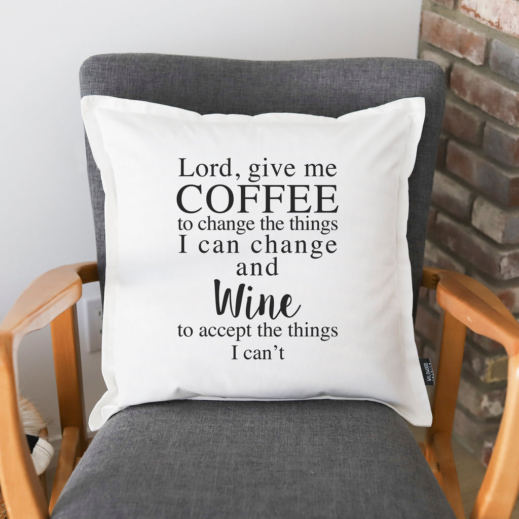 PILLOW: LORD GIVE ME COFFEE