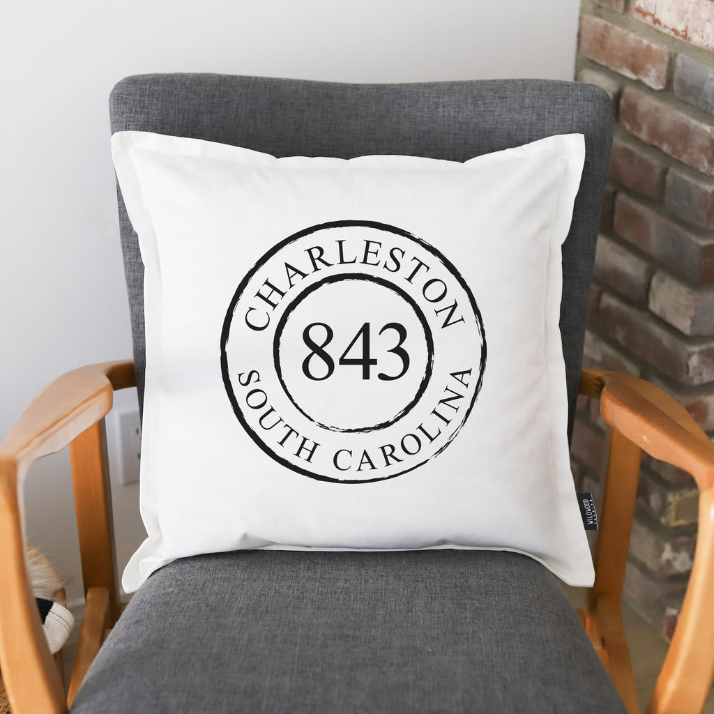 PILLOW: AREA CODE CIRCLE (Charleston)