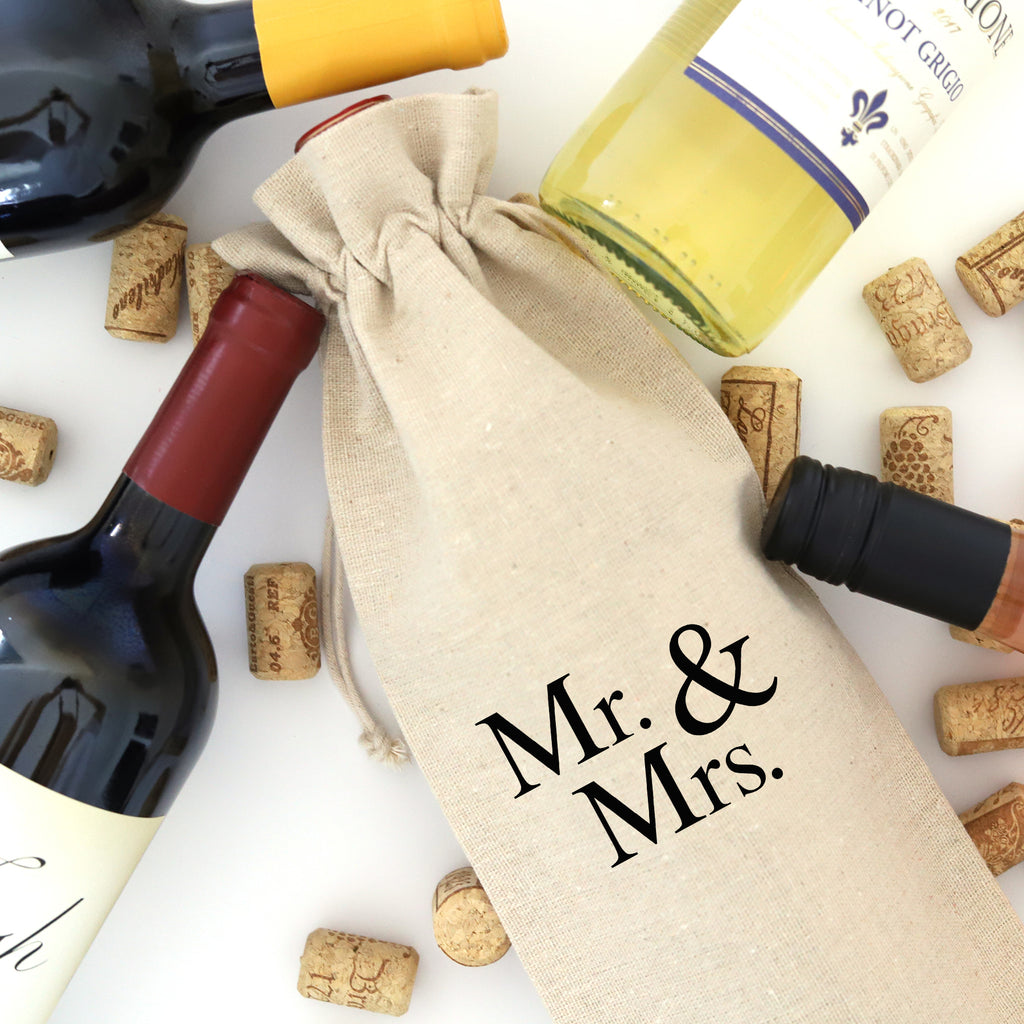 WINE BAG: MR & MRS (no date)