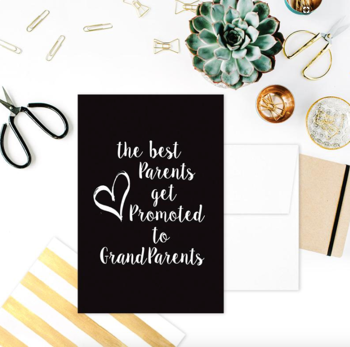 GREETING CARD: BEST PARENTS GET PROMOTED TO GRANDPARENTS