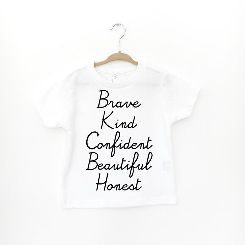 BABY or TODDLER: BRAVE KIND CONFIDENT BEAUTIFUL