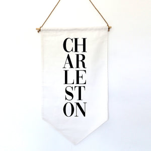 HANGING BANNER (small): CHARLESTON (customize your city or state)