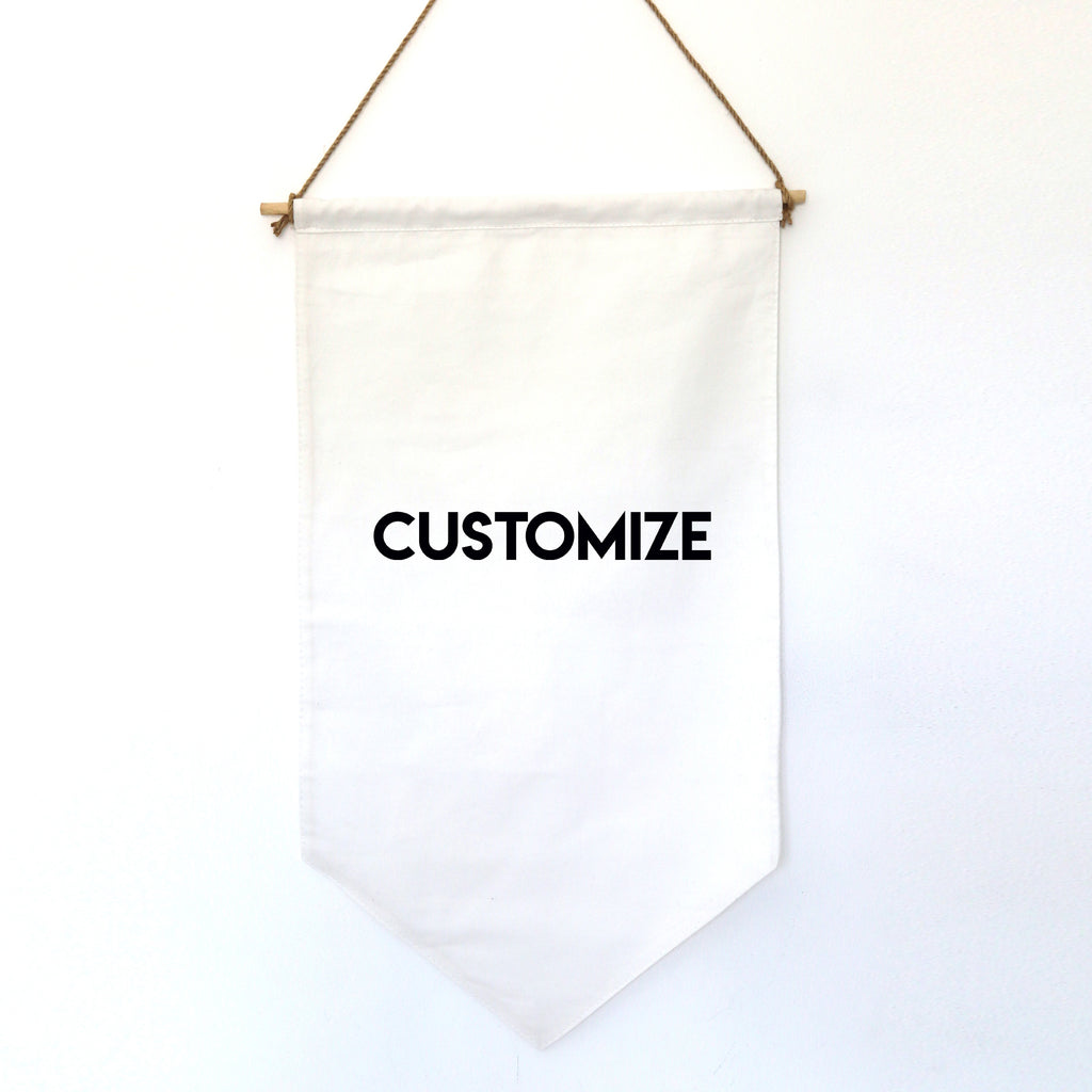 CUSTOMIZE: HANGING BANNER (small)
