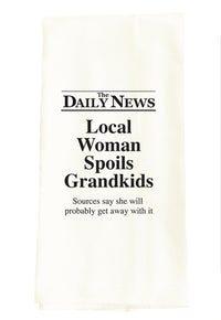 DAILY NEWS: LOCAL WOMAN SPOILS GRANDKIDS