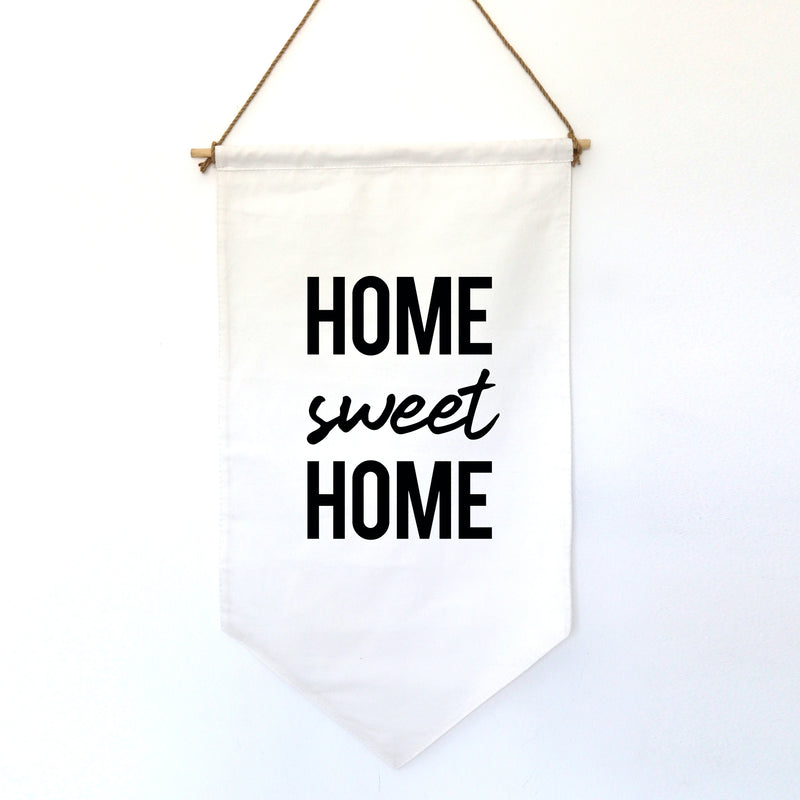HANGING BANNER (small): HOME SWEET HOME