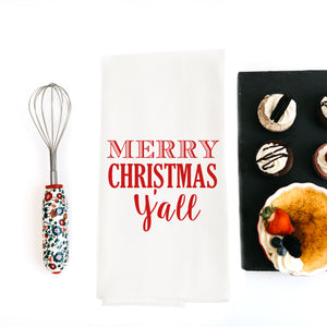 TEA TOWEL (CHRISTMAS): MERRY CHRISTMAS Y'ALL