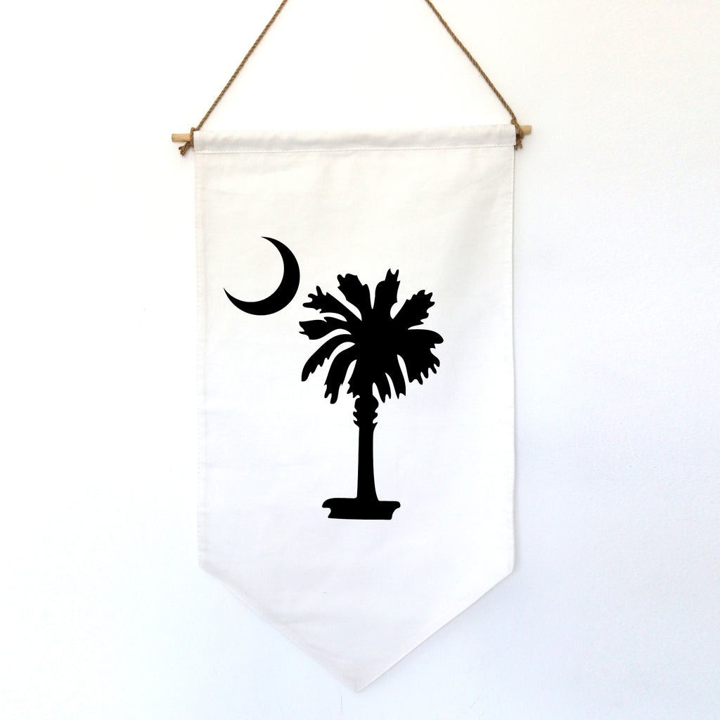 HANGING BANNER (small): PALM & MOON (customize your image)