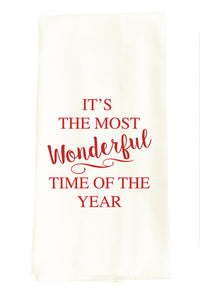 TEA TOWEL: IT'S THE MOST WONDERFUL TIME OF THE YEAR