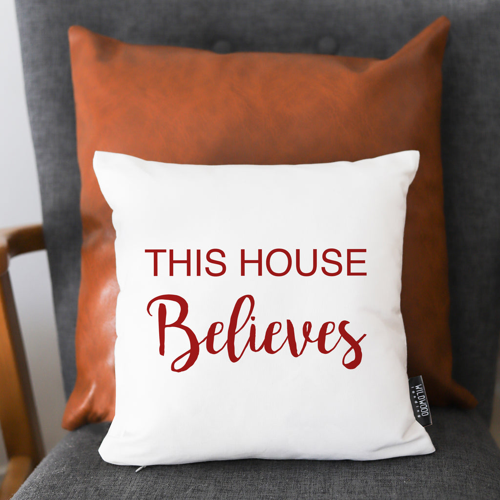 PILLOW:  THIS HOUSE BELIEVES