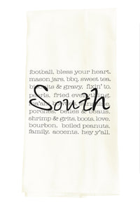 TEA TOWEL: SOUTH