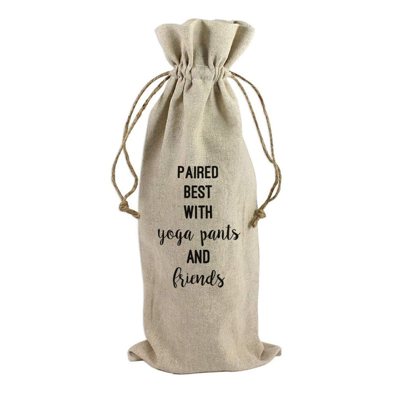 WINE BAG: PAIRED BEST WITH YOGA PANTS