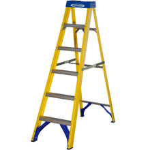 Load image into Gallery viewer, Werner Fibreglass Stepladder 6 Tread (7160618)