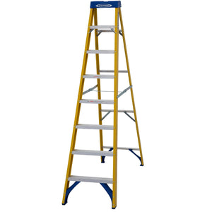 Werner Fibreglass Stepladder 8 Tread (7160818)