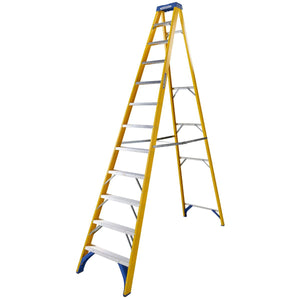 Werner Fibreglass Stepladder 12 Tread (7161218)