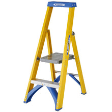 Load image into Gallery viewer, Werner Fibreglass Platform Stepladder 2 Tread (7170218)