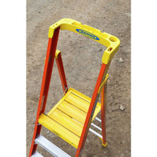Load image into Gallery viewer, Werner Fibreglass Podium Ladder 8 Tread (72008)