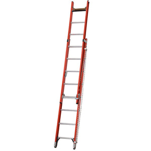 Werner Fibreglass Extension Ladder ALFLO 2.5m Utility Double (77425BR)