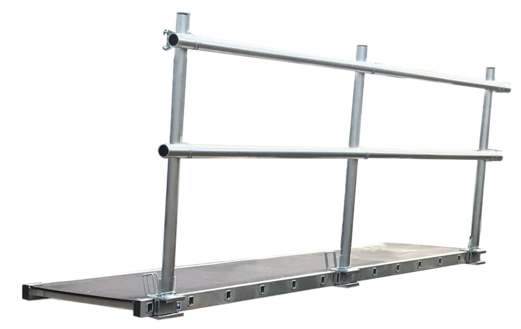 LFI 450mm Staging Board 3.65m Wide With Single Sided Handrail (C6LS12M7K)