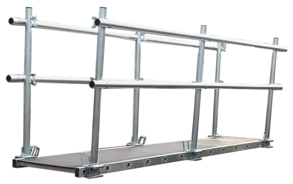 LFI 600mm Staging Board 5.4m Wide With Double Sided Handrail (C4LS18M7KK)