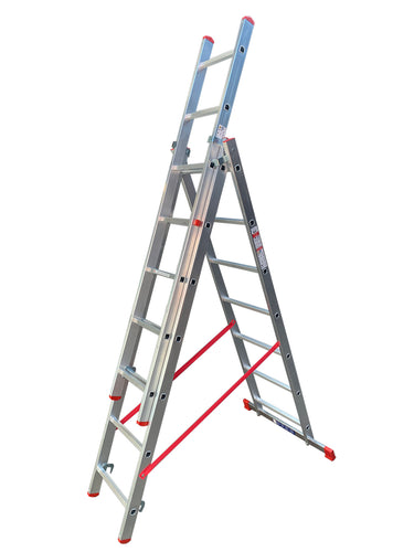 LFI Home Triple Section 7 Rung Combination Ladder 2m (F3TC20)