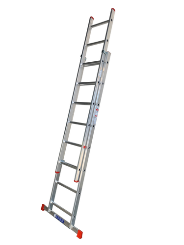 LFI Home Double Section 13 Rung Extension Ladder 3.5m (F2DP35)