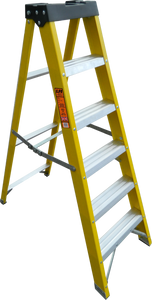 LFI PRo GRP Fibreglass 4 Tread Swingback Builders Step Ladder (K8BP04)