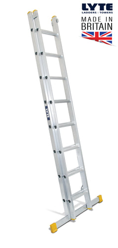 Lyte EN131-2 Professional Extension Ladder 8 Rung 2 Section (NELT225)