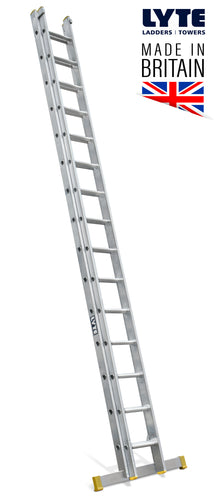 Lyte EN131-2 Professional Extension Ladder 15 rung 2 Section (NELT245)