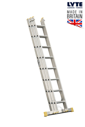 Lyte EN131-2 Professional Extension Ladder 8 Rung 3 Section (NELT325)